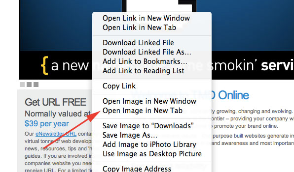safari - open image in new tab