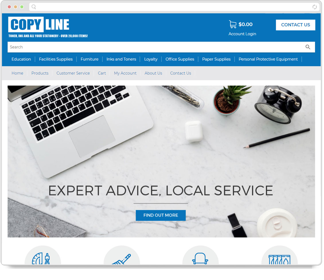 Thumbnail of Copyline website
