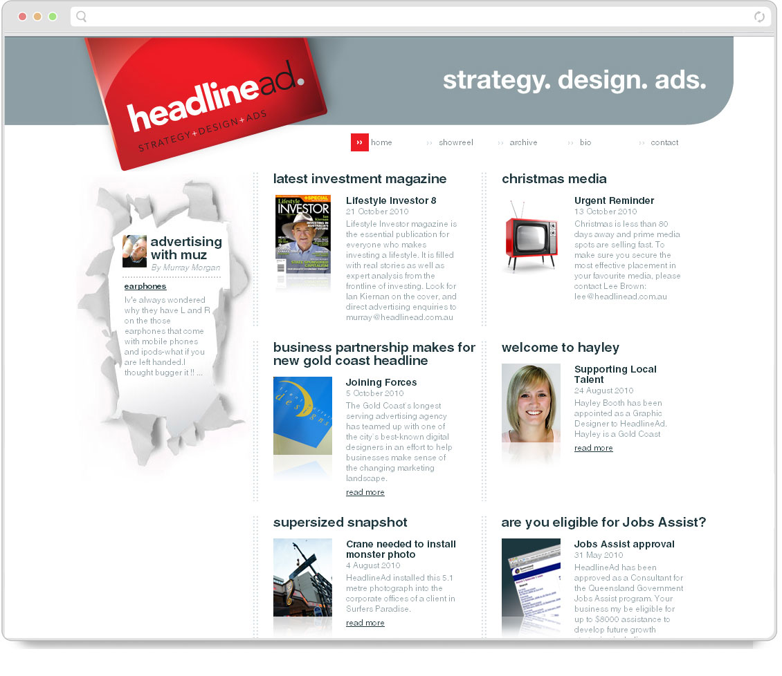 Thumbnail of Headline Advertising website