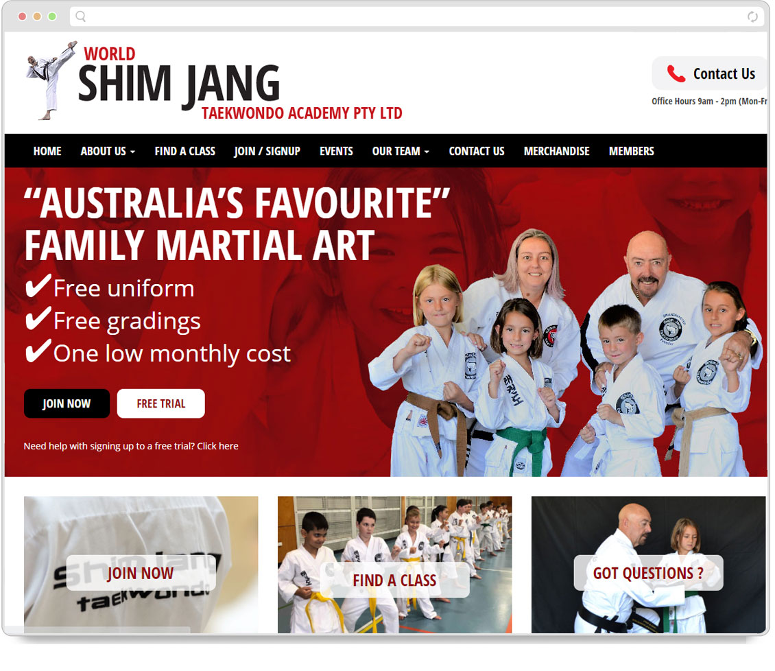 Thumbnail of Shimjang Taekwondo website