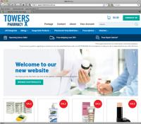 Thumbnail of Towers Pharmacy website
