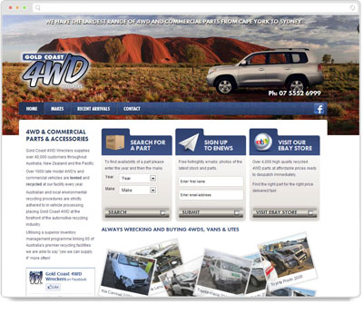 Website Thumbnail for Gold Coast 4WD