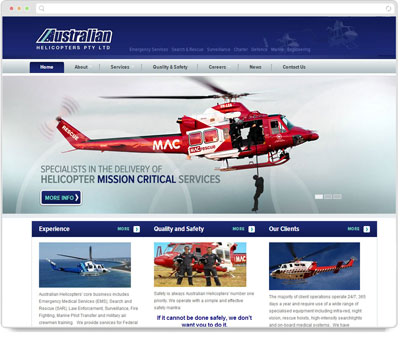 Website Thumbnail for Australian Helicopters
