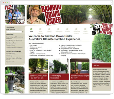 Website Thumbnail for Bamboo Downunder