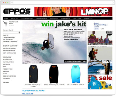 Website Thumbnail for Bodyboardshop