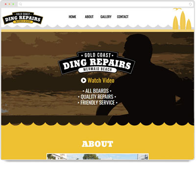 Website Thumbnail for Gold Coast Ding Repairs