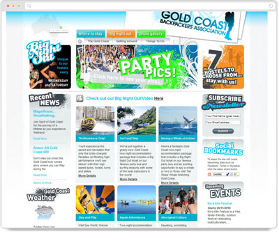 Website Thumbnail for Gold Coast Backpackers