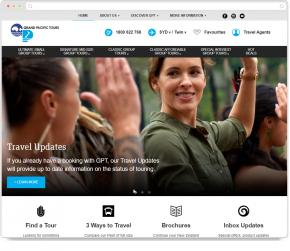 Website Thumbnail for Grand Pacific Tours