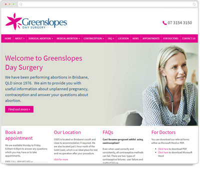 Website Thumbnail for Greenslopes Day Surgery