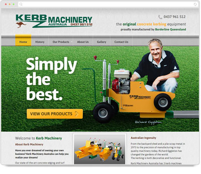 Website Thumbnail for Kerb Machinery Australia