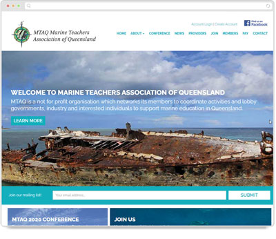 Website Thumbnail for Marine Teachers Association of Queensland