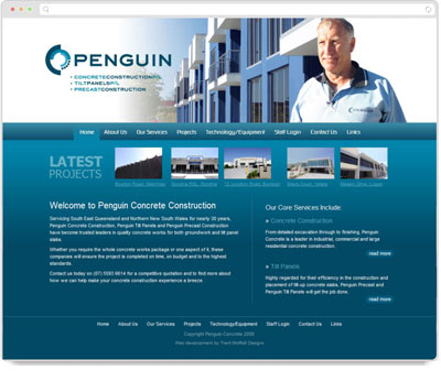 Website Thumbnail for 	Penguin Concrete Construction
