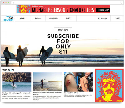 Website Thumbnail for Pacific Longboarder