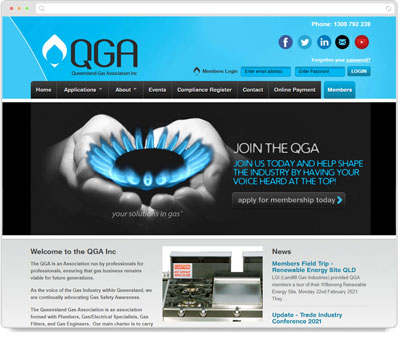 Website Thumbnail for Queensland Gas Association (QGA)