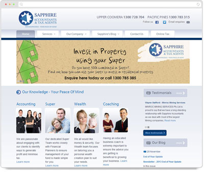 Website Thumbnail for Sapphire Accountants