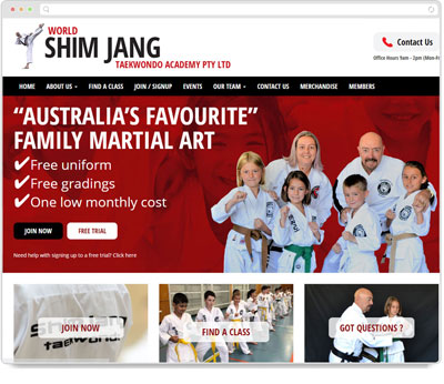 Website Thumbnail for Shimjang Taekwondo