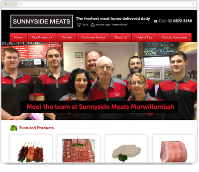 Website Thumbnail for Sunnyside Meats