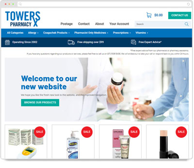 Website Thumbnail for Towers Pharmacy
