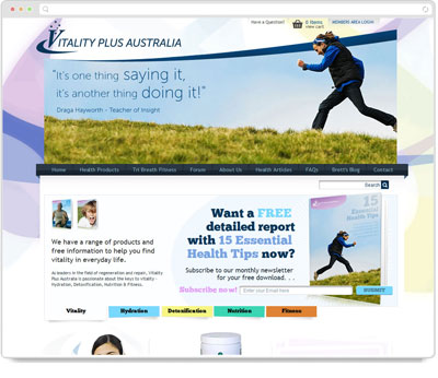 Website Thumbnail for Vitality Plus Australia